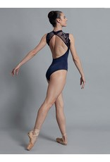 BALLET ROSA BERENICE SCALLOPED LACE HIGH NECK OPEN BACK CAP SLEEVE LEOTARD