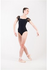 BALLET ROSA JUSTINE SCALLOPED LACE SHOULDER SQUARE NECK LEOTARD