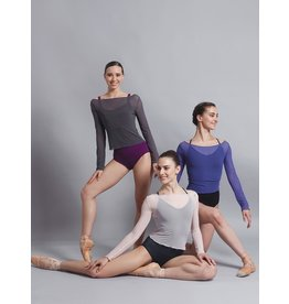 BALLET ROSA NATASHA LONG SLEEVE MESH TOP