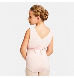 CAPEZIO & BUNHEADS A11135C PLEATED PERFECTION HIGH NECK PRINCESS BOW BACK TANK LEOTARD