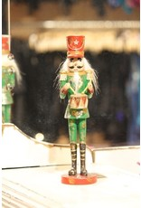 K & K INTERIORS NUTCRACKER 51834A ANTIQUED NUTCRACKER WITH DRUM
