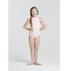 CAPEZIO & BUNHEADS A11336C EYELET CHILD HIGH NECK ZIP BACK LEO
