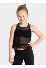 CAPEZIO & BUNHEADS A11329C SWISS DOT CHILD FLOUNCEY TANK