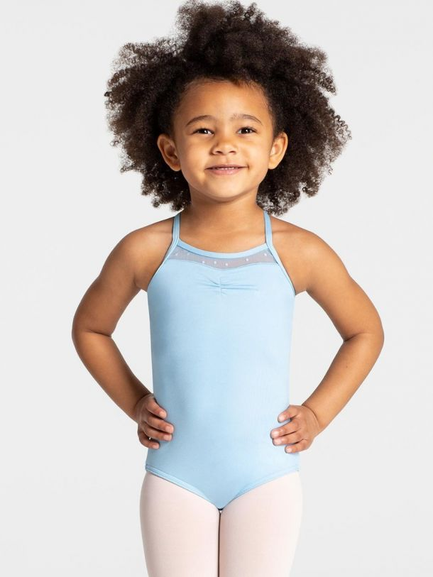 CAPEZIO & BUNHEADS A11330C SWISS DOT CHILD CROSS BACK TANK LEO