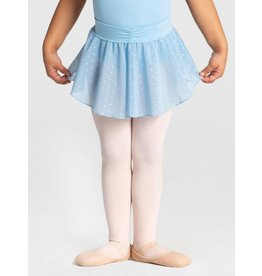 CAPEZIO & BUNHEADS A11328C SWISS DOT CHILD CINCHED WAIST LAYERED SKIRT