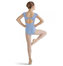 BLOCH & MIRELLA M1503C FELINA METALLIC CHEETAH MESH OPEN BACK CAP SLEEVE LEOTARD