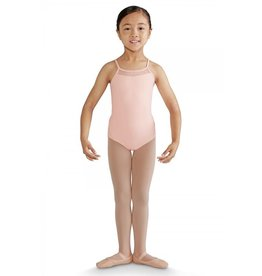 BLOCH & MIRELLA M1205C FELINA METALLIC CHEETAH MESH TUX BOW BACK CAMISOLE LEOTARD