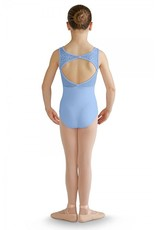 BLOCH & MIRELLA M360C FELINA METALLIC CHEETAH MESH OPEN BACK TANK LEOTARD