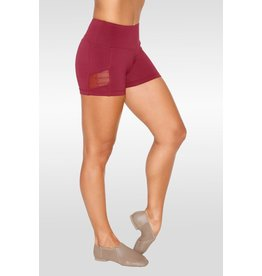 SO DANCA RDE1747 SARA MEARNS LACE HIGH WAIST SHORT