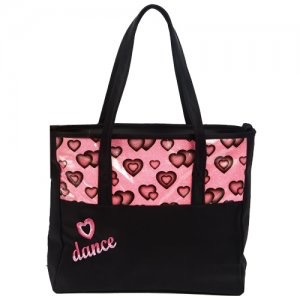 DASHA DESIGNS 4942 DANCE HEART TOTE BAG