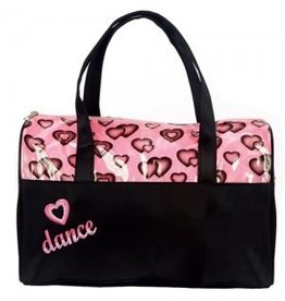 DASHA DESIGNS 4941 DANCE HEART DUFFEL BAG