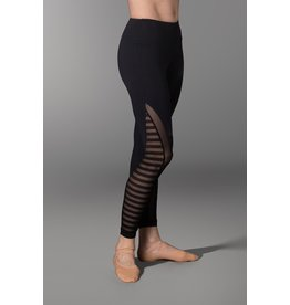 SO DANCA RDE1782 SARA MEARNS COLLECTION STRIPED MESH HIGH WAIST LEGGING