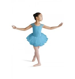 BLOCH & MIRELLA M1207C DELICATE BLOSSOM EMBROIDERED MESH CAP SLEEVE TUTU DRESS