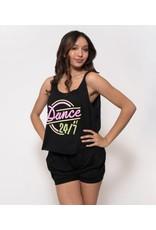 SUGAR & BRUNO D8685 DANCE 24/7 LOOSE TANK TOP