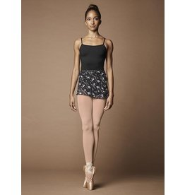 BLOCH & MIRELLA MS112 WILD BLOOM PRINTED MESH WRAP SKIRT