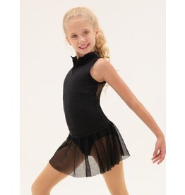 CAPEZIO & BUNHEADS A11430C CHILD'S SCALLOP NECK ZIP FRONT LEOTARD