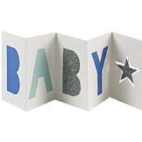 MERI MERI BLUE BABY CONCERTINA GIFT ENCLOSURE