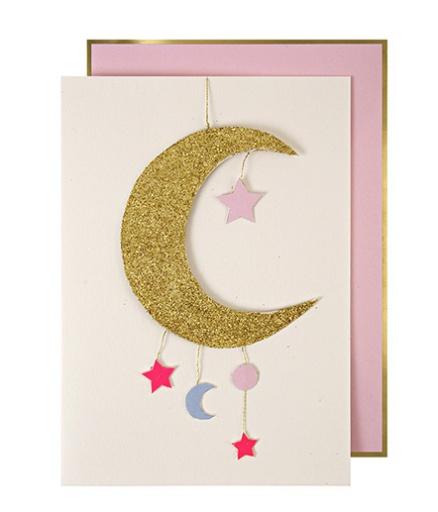 MERI MERI BABY GIRL MOBILE GREETING CARD BellaBoo