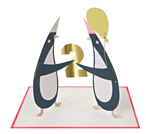 Meri Meri Two Penguins Birthday Card Bellaboo