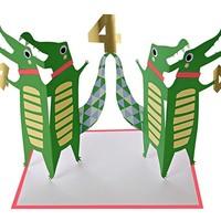 MERI MERI FOUR CROCODILES BIRTHDAY CARD