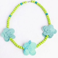 EVERBLOOM EVERBLOOM BLUE ROSETTES NECKLACE