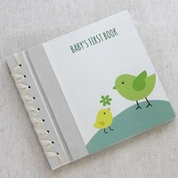 RAG & BONE BABY'S FIRST BOOK, TINY BIRDS GREEN