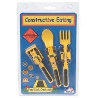 CONSTRUCTIVE EATING SET OF 3 CONSTRUCTION UTENSILS