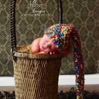 THE DAISY BABY RAINBOW  NEWBORN TAIL HAT