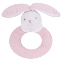 ANGEL DEAR ANGEL DEAR PINK BUNNY RING RATTLE