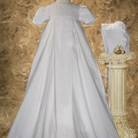 LITTLE THINGS MEAN A LOT PLEATED HEIRLOOM GOWN