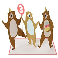 MERI MERI THREE BEARS BIRTHDAY CARD