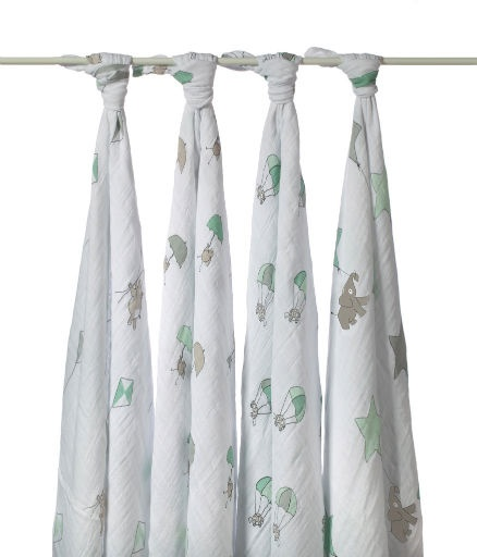 ADEN + ANAIS ADEN & ANAIS UP UP AND AWAY NEUTRAL SWADDLE 4PK