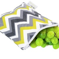 ITZY RITZY SNACK HAPPENS- SUNSHINE CHEVRON