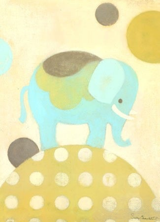 OOPSY DAISY ELLA ELEPHANT - BLUE - WALL ART 10X14 - BellaBoo