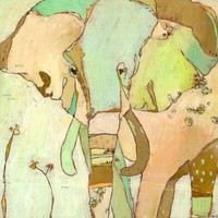 OOPSY DAISY TRUMPETTE ELEPHANT 14X14