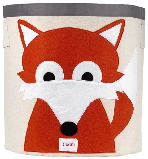 3 SPROUTS 3 SPROUTS ORANGE FOX STORAGE BIN