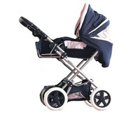 COROLLE NAVY BLUE & PINK CARRIAGE