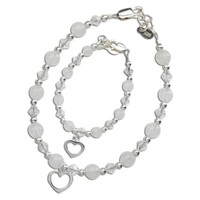 """CHERISHED MOMENTS, LLC MOM AND ME BRACELET SET """"HEARTS ENTWINED FOREVER"""""""