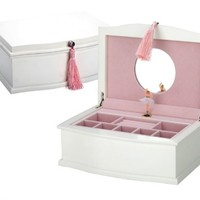 REED & BARTON MUSICAL BALLERINA JEWELRY CHEST