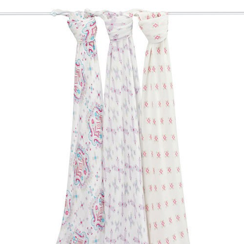 ADEN + ANAIS ADEN & ANAIS FLOWER CHILD BAMBOO SWADDLES 3 PK
