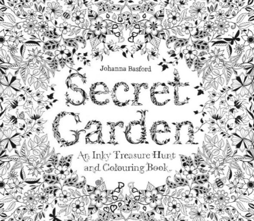 HACHETTE MUDPUPPY JOHANNA BASFORD SECRET GARDEN COLORING BOOK