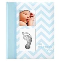 PEARHEAD PEARHEAD BLUE CHEVRON BABY BOOK