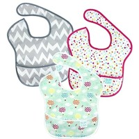 BUMKINS GIRL SUPER BIB 3PK