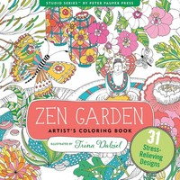 PETER PAUPER PRESS INC. ZEN GARDEN COLORING BOOK