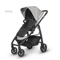 UPPA BABY UPPABABY CRUZ STROLLER PASCAL-GREY/CARBON FRAME