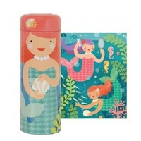 PETIT COLLAGE PLAYFUL MERMAIDS 64-PIECE TIN CANISTER
