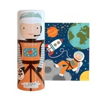 PETIT COLLAGE INTO SPACE 64-PIECE TIN CANISTER