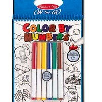 MELISSA & DOUG BLUE COLOR BY NUMBER