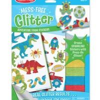 MELISSA & DOUG MESS FREE GLITTER ADVENTURE FOAM STICKERS