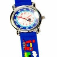 THE KIDS WATCH COMPANY BLUE TRAINS WATCH
